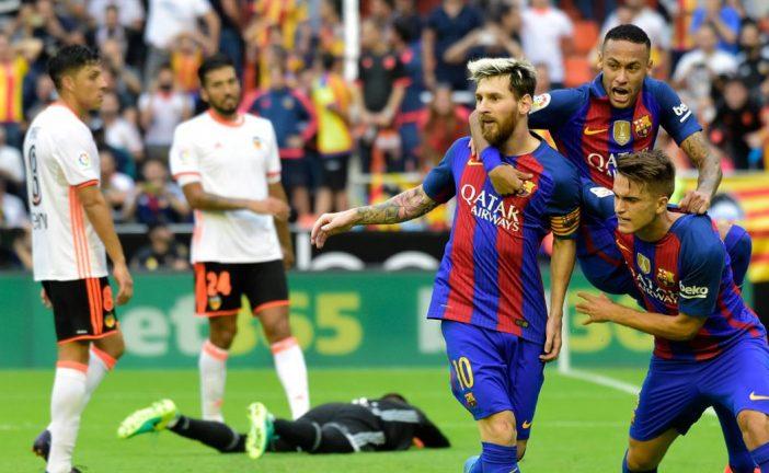 Organização defensiva: Valencia vs Barcelona