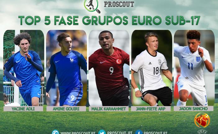 Os 5 melhores da fase de grupos do Europeu Sub-17
